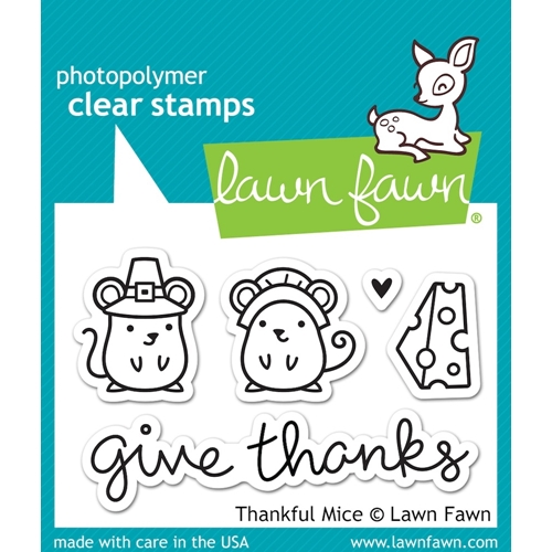Lawn Fawn THANKFUL MICE Clear Stamps LF936 Preview Image