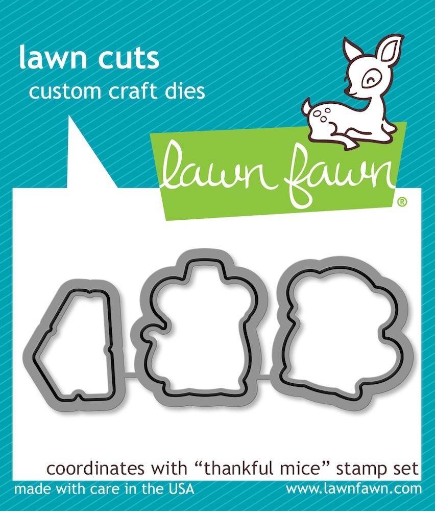 Lawn Fawn THANKFUL MICE Lawn Cuts Dies LF937 zoom image