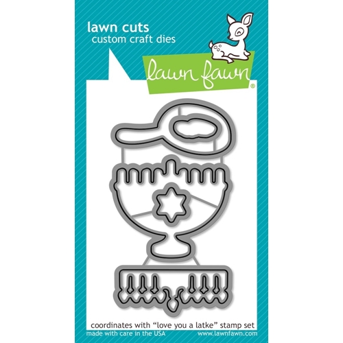 Lawn Fawn LOVE YOU A LATKE Lawn Cuts Dies LF942 Preview Image