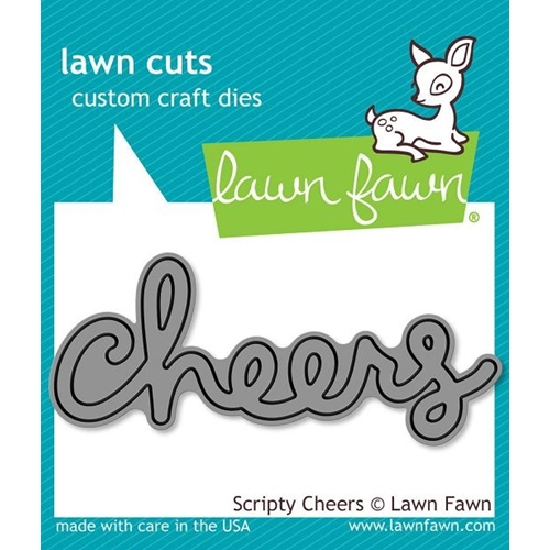 Lawn Fawn SCRIPTY CHEERS Lawn Cuts Die LF991 Preview Image