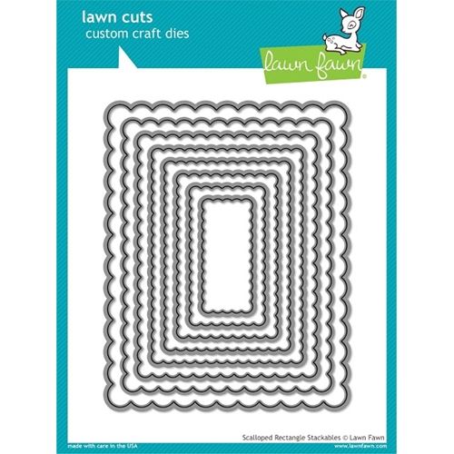 Lawn Fawn SCALLOPED RECTANGLE STACKABLES Lawn Cuts Dies LF997 Preview Image