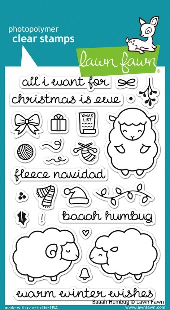Lawn Fawn BAAAH HUMBUG Clear Stamps LF939 zoom image
