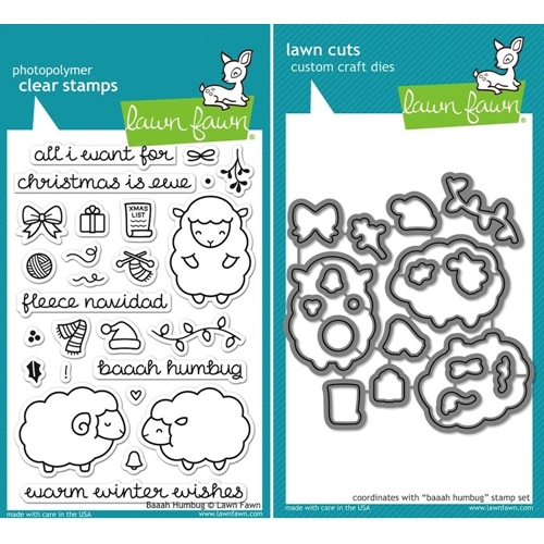 Lawn Fawn SET LF15SETBAAAH FLEECE NAVIDAD Clear Stamps and Dies* Preview Image