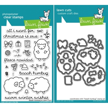 Lawn Fawn SET LF15SETBAAAH FLEECE NAVIDAD Clear Stamps and Dies*