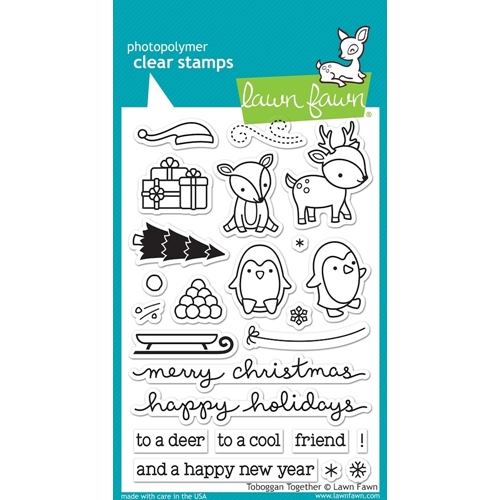Lawn Fawn TOBOGGAN TOGETHER Clear Stamps LF976 Preview Image