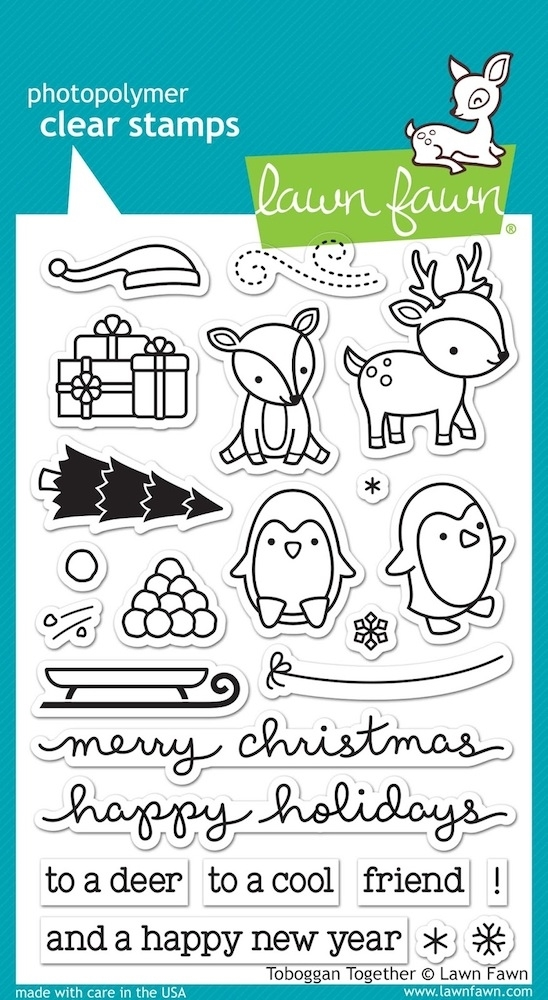Lawn Fawn TOBOGGAN TOGETHER Clear Stamps LF976 zoom image