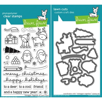 Lawn Fawn SET LF15SETTT SLEDDING PALS Clear Stamps and Dies