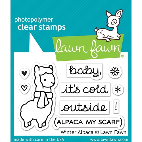 Lawn Fawn WINTER ALPACA Clear Stamps LF981 Preview Image
