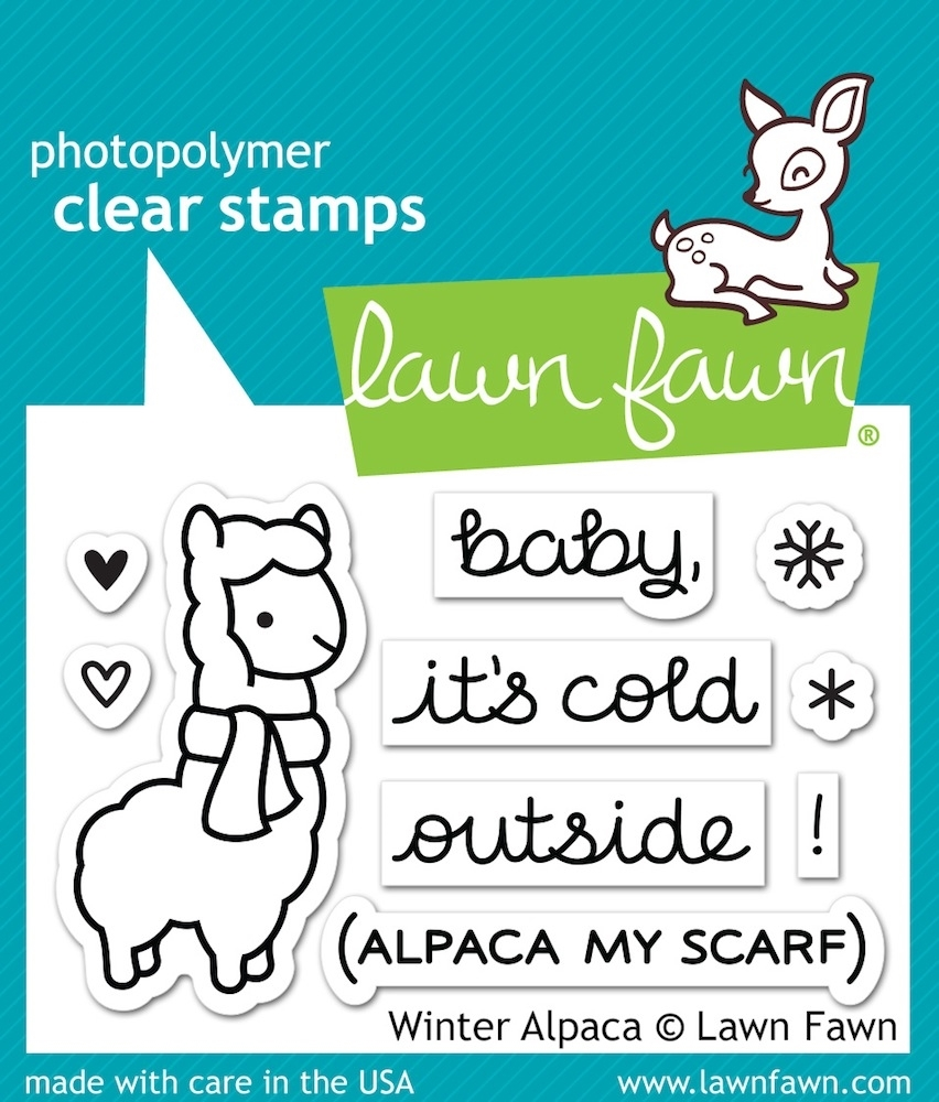 Lawn Fawn WINTER ALPACA Clear Stamps LF981 zoom image