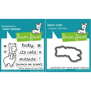 Lawn Fawn SET LF15SETWA COLD OUTSIDE Clear Stamps and Dies