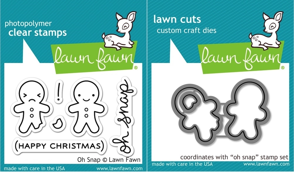 Lawn Fawn SET LF15SETOS GINGERBREAD Clear Stamps and Dies zoom image