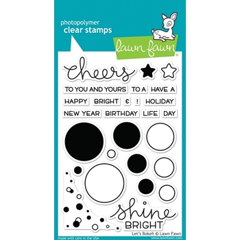 Lawn Fawn LET'S BOKEH Clear Stamps LF978*
