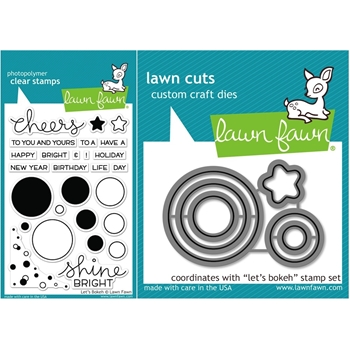 Lawn Fawn SET LF15SETLB SHINE BRIGHT Clear Stamps and Dies*