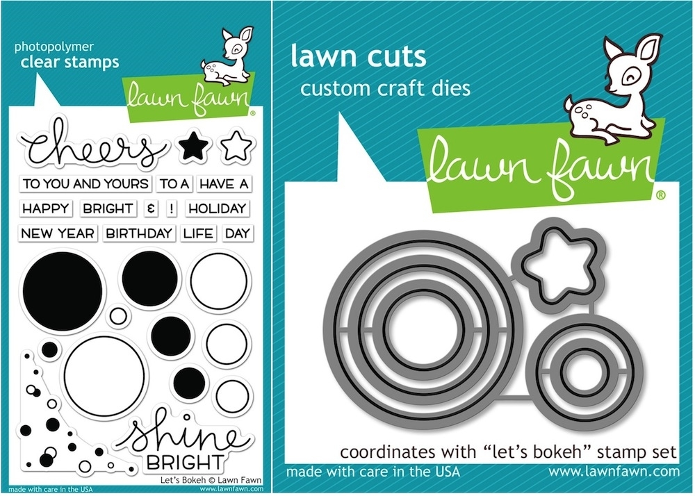 Lawn Fawn SET LF15SETLB SHINE BRIGHT Clear Stamps and Dies* zoom image