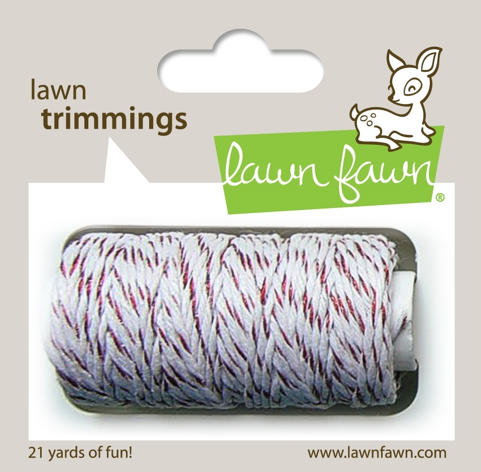 Lawn Fawn RED SPARKLE Single Cord Lawn Trimmings LF922 zoom image