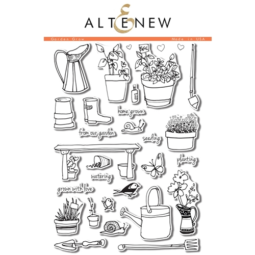Altenew GARDEN GROW Clear Stamp Set ALT1051* Preview Image