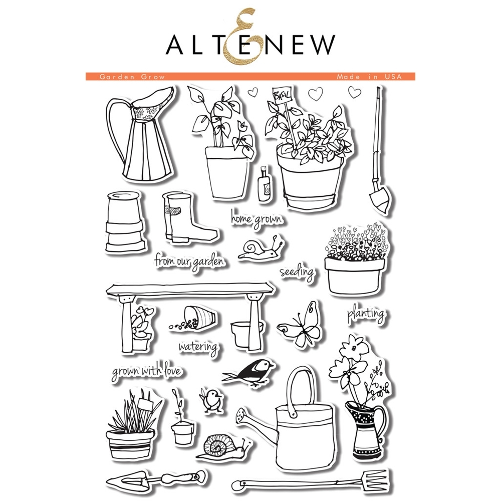Altenew GARDEN GROW Clear Stamp Set ALT1051* zoom image