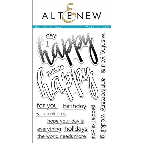 Altenew HALFTONE HAPPY Clear Stamp Set ALT1094 Preview Image