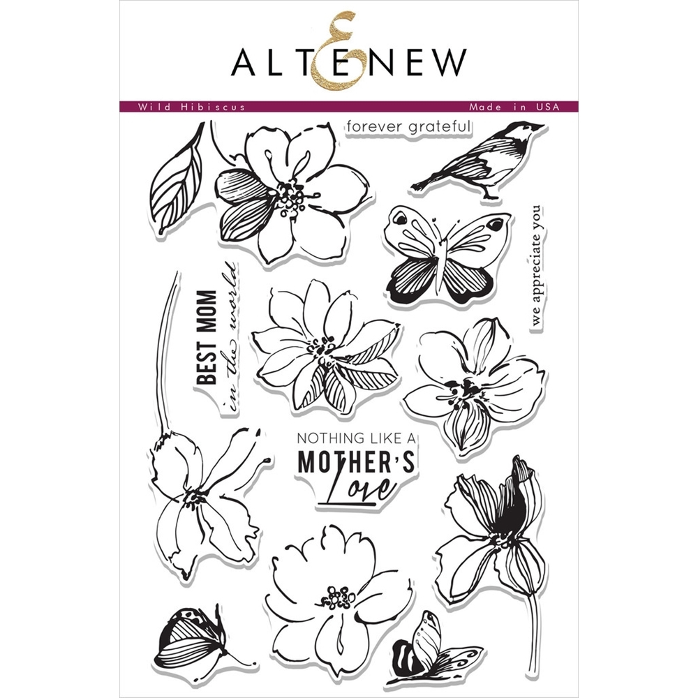 Altenew WILD HIBISCUS Clear Stamp Set ALT1022 zoom image