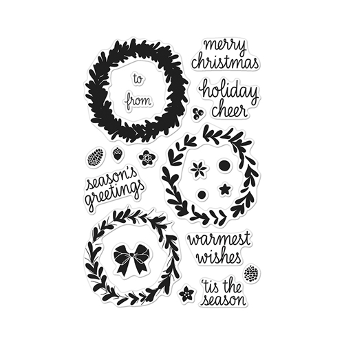 Hero Arts Clear Stamps COLOR LAYERING WREATH CL907* Preview Image