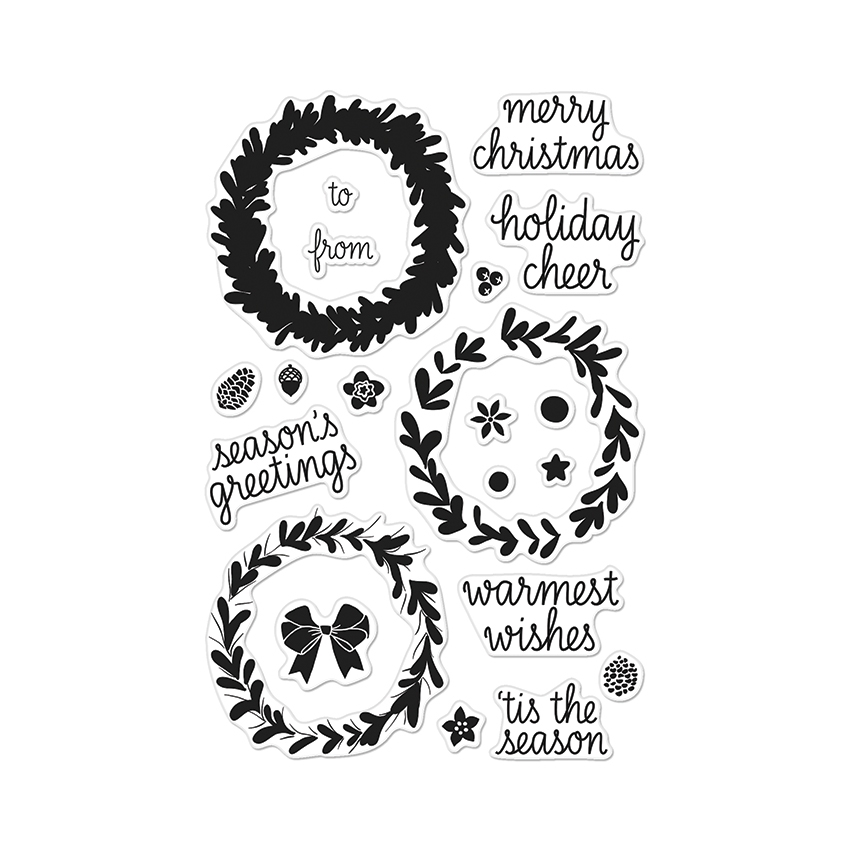 Hero Arts Clear Stamps COLOR LAYERING WREATH CL907* zoom image