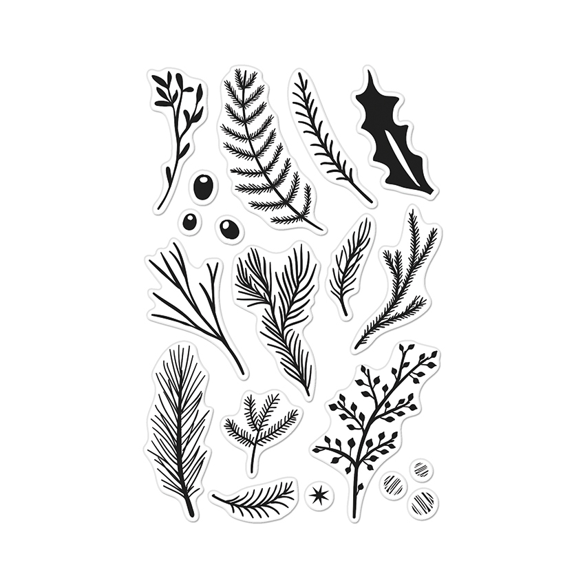 Hero Arts Clear Stamps HOLIDAY PINE BRANCHES CL889 zoom image