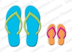 Impression Obsession Steel Die FLIP FLOPS Set DIE183-L Preview Image