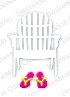 Impression Obsession Steel Die SINGLE BEACH CHAIR Set DIE190-C zoom image