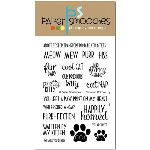 Paper Smooches CHARMED CAT 2 Clear Stamps A2S249 Preview Image