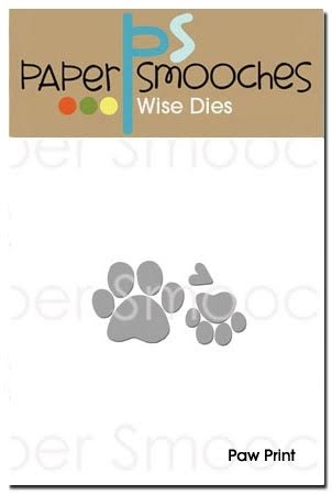 Paper Smooches PAW PRINT Wise Dies A2D255 zoom image