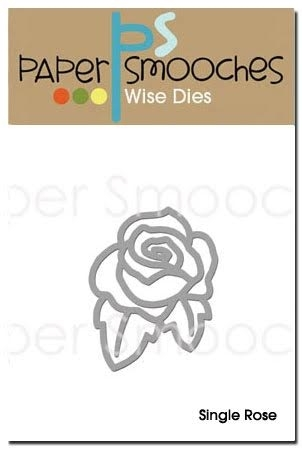 Paper Smooches SINGLE ROSE Wise Die A2D256* Preview Image