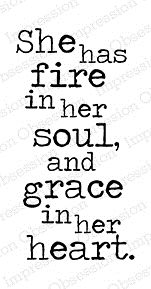 Impression Obsession Cling Stamp FIRE AND GRACE D17042 zoom image