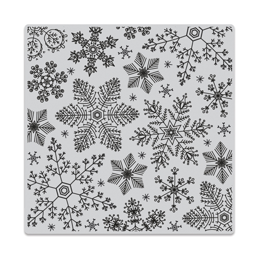 Hero Arts Cling Stamp HAND DRAWN SNOWFLAKES Bold Prints CG685 Preview Image
