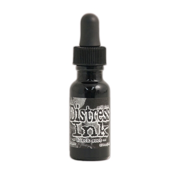 Tim Holtz Refill Distress Ink BLACK SOOT Reinker Ranger TIM19480
