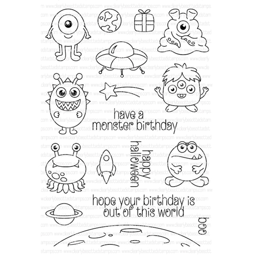 Clearly Besotted OUT OF THIS WORLD Clear Stamp Set   Preview Image