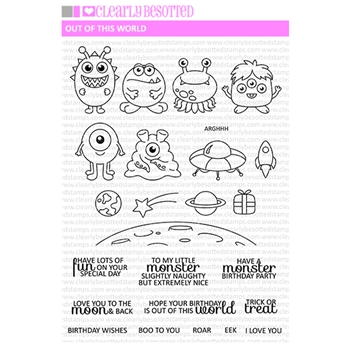 Clearly Besotted OUT OF THIS WORLD Clear Stamp Set