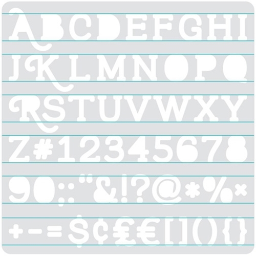 We R Memory Keepers HEATWAVE SERIF STENCIL 662662 Preview Image
