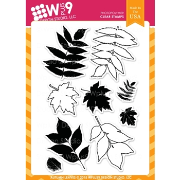 Wplus9 AUTUMN LEAVES Clear Stamps CLWP9AL*