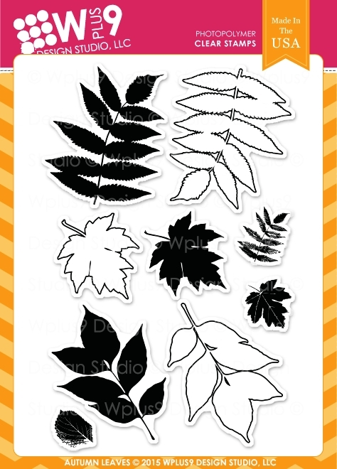 Wplus9 AUTUMN LEAVES Clear Stamps CLWP9AL* zoom image