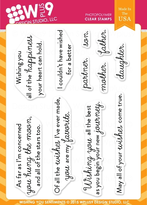 Wplus9 WISHING YOU SENTIMENTS Clear Stamps CLWP9WYS zoom image