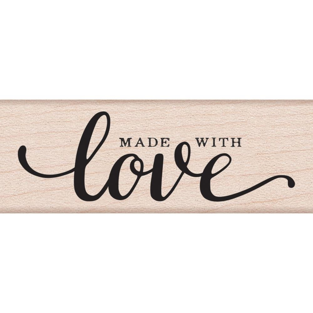 Hero Arts Rubber Stamp MADE WITH LOVE MESSAGE C6118 zoom image