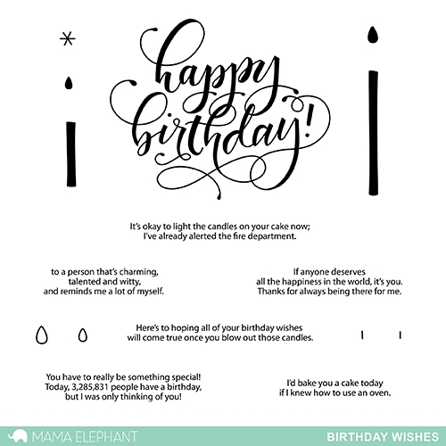 Mama Elephant Clear Stamps BIRTHDAY WISHES Preview Image