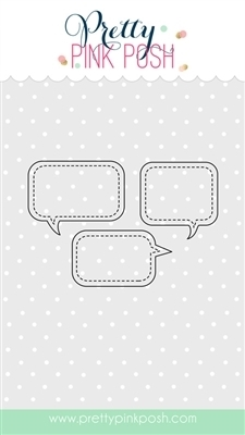 Pretty Pink Posh STITCHED SPEECH BUBBLES Steel Craft Dies PPPD016 Preview Image