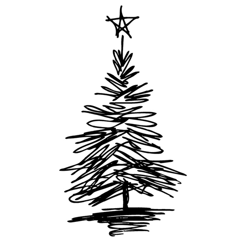 Tim Holtz Rubber Stamp SCRIBBLE TREE 6 Stampers Anonymous J2-2717 Preview Image