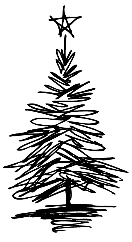 Tim Holtz Rubber Stamp SCRIBBLE TREE 6 Stampers Anonymous J2-2717 zoom image
