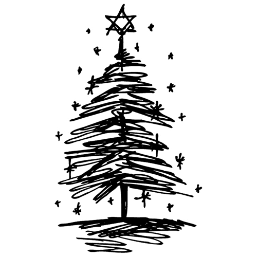 Tim Holtz Rubber Stamp  SCRIBBLE TREE 3 Stampers Anonymous J2-2714 Preview Image