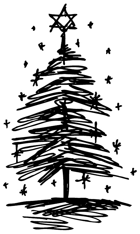 Tim Holtz Rubber Stamp  SCRIBBLE TREE 3 Stampers Anonymous J2-2714 zoom image