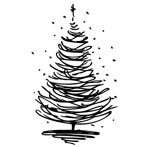 Tim Holtz Rubber Stamp SCRIBBLE TREE 7 J2-2718* Preview Image