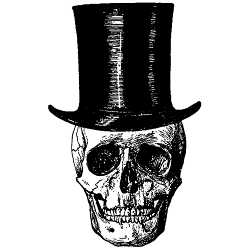 Tim Holtz Rubber Stamp  LARGE UNDERTAKER P4-2658* Preview Image