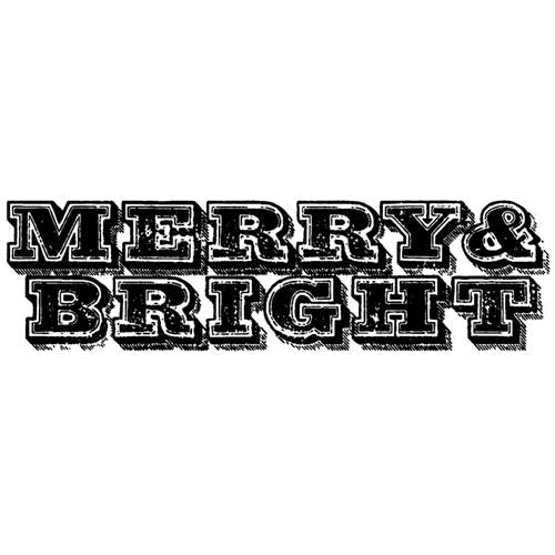 Tim Holtz Rubber Stamp  MERRY AND BRIGHT E3-2685 * Preview Image